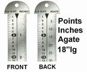 "Ruler - 18"" Line Guage"