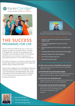 Success Factor for Life | Karen Claridge | Coaching for Success