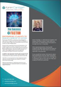 Success Factor Presentation | Karen Claridge | Coaching for Success