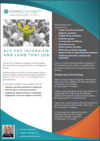 Ace the Interview and Land That Job | Karen Claridge | Coaching for Success