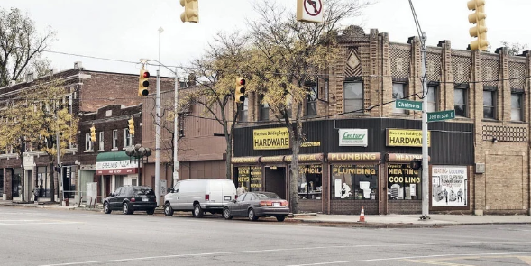 The Jefferson-Chalmers Historic Business District