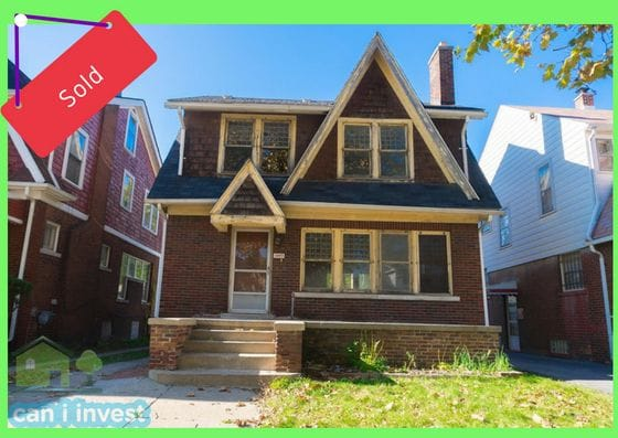 15493 Indiana St, Detroit, MI | Can I Invest | cash positive investments | positive cash flow investments | why invest in detroit