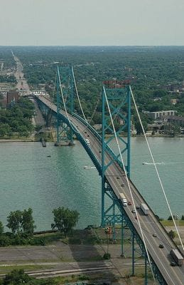 New Bridge connecting Detroit to Canada