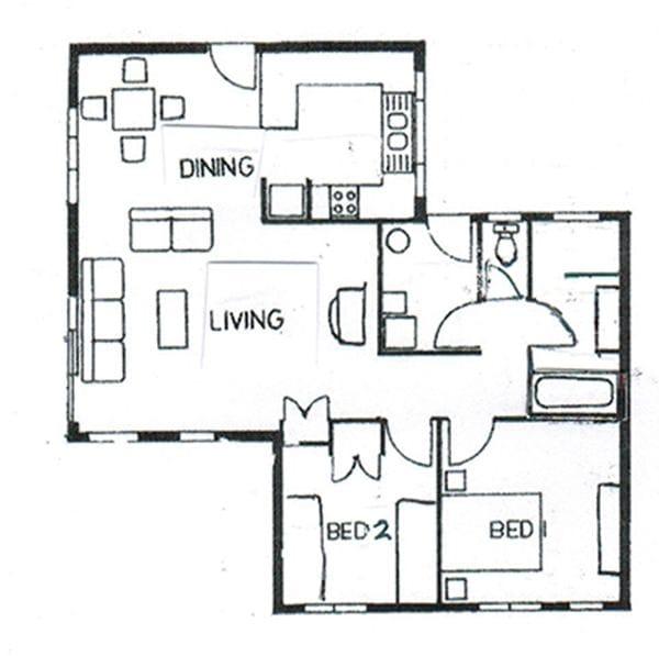 Deluxe Villa 2 Bedroom floorplan