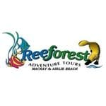 Logo of Reeforest Tours incorporating Platypus and Fish
