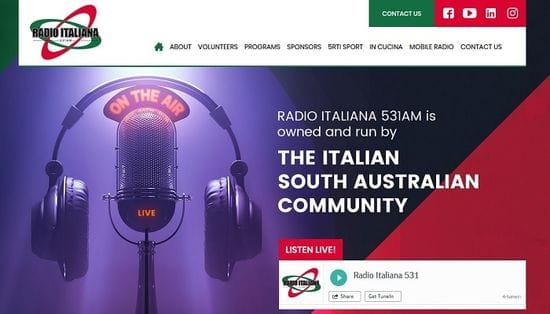 New Website Launched for Radio Italiana 531