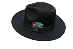 BLACK & RED FEDORA