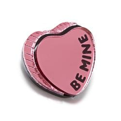BE MINE HEART BROOCH