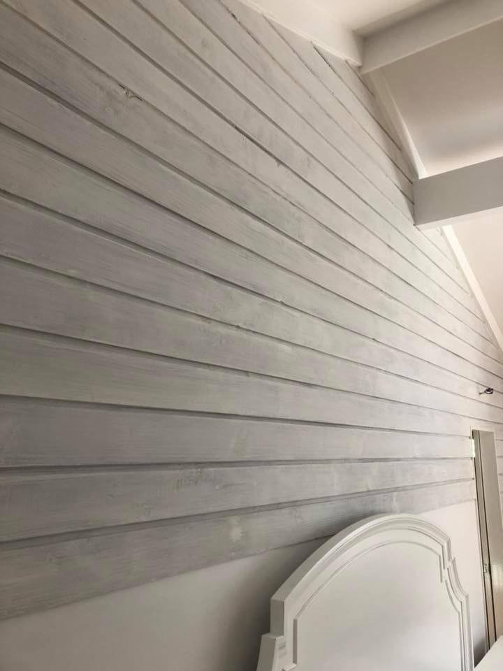 Wash Paint on Timber Panel