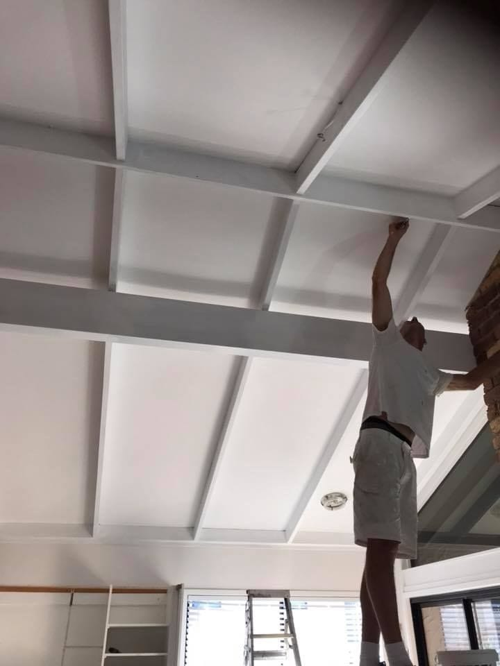 Hight Beams Paint Ceiling