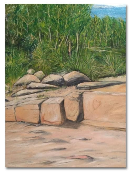 Rocks, Noosa Camino reflection site 10