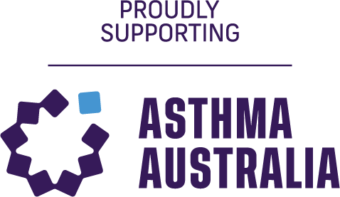 Proudly Supporting Asthma Australia logo