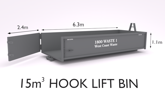 West Coast Waste hook lift bin