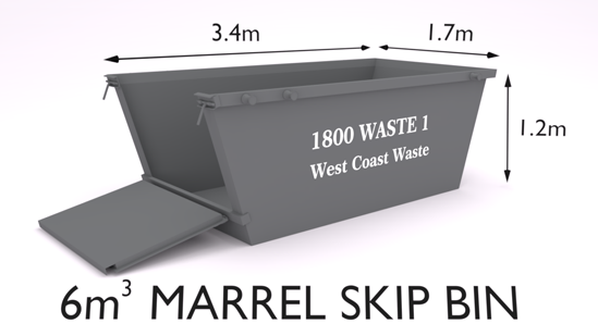 West Coast Waste Marrel skip bin