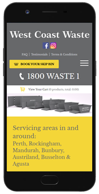 West Coast Waste app - book a bin on your phone