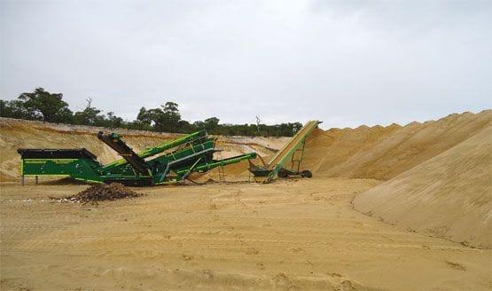 West Coast Waste screened sand
