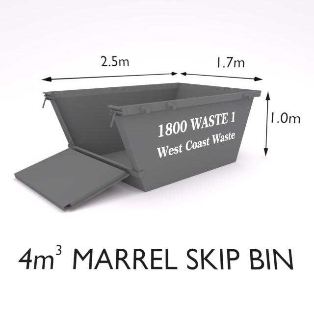 4 Cubic Metre Marrel Skip Bin-Zone 2
