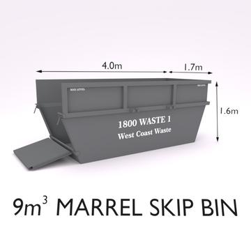 9 Cubic Metre Marrel Skip Bin-Zone 2