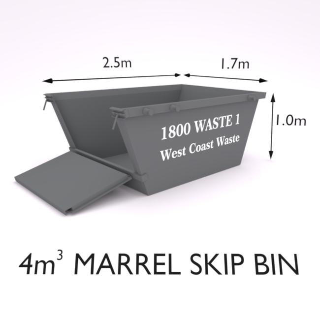 4 Cubic Metre Marrel Skip Bin-Zone 9