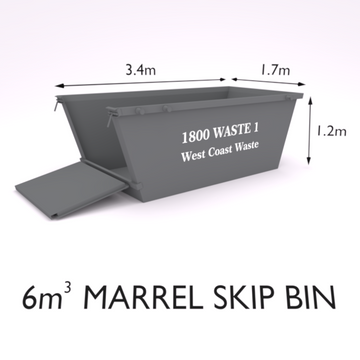 6 Cubic Metre Marrel Skip Bin-Zone 8