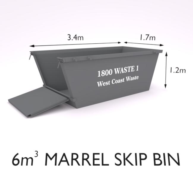 6 Cubic Metre Marrel Skip Bin-Zone 2