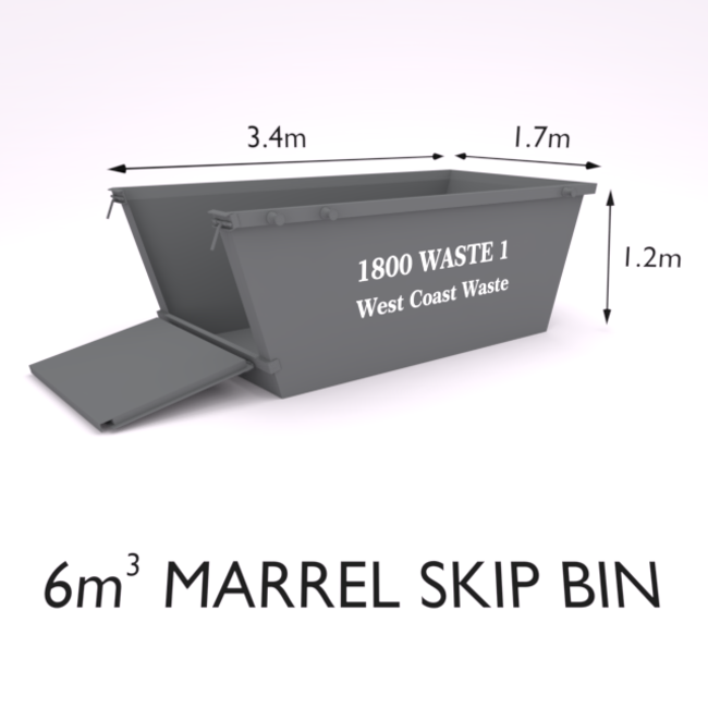 6 Cubic Metre Marrel Skip Bin-Zone 1