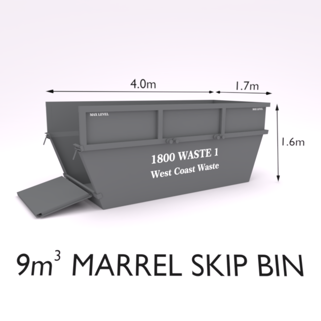9 Cubic Metre Marrel Skip Bin-Zone 3