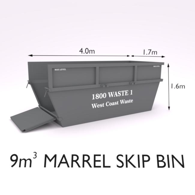 9 Cubic Metre Marrel Skip Bin-Zone 8