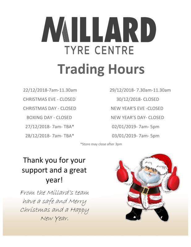 Christmas Holidays Trading Hours