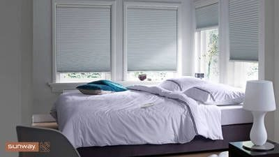 Sunway cellular blinds, white 20mm block out fabric. Sunway cellular blinds, reduce heating bills up to 32%. Sunway Cellular Blind, minimal light gaps, reducing light bleed. Cellular blinds, suitable for bedrooms, noise insulation, Perth blinds.