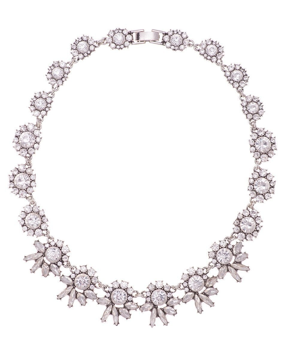 Diamante Floral Bib Necklace