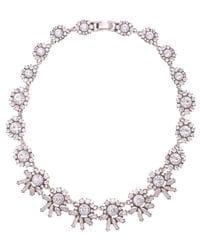 Diamante Floral Bib Necklace