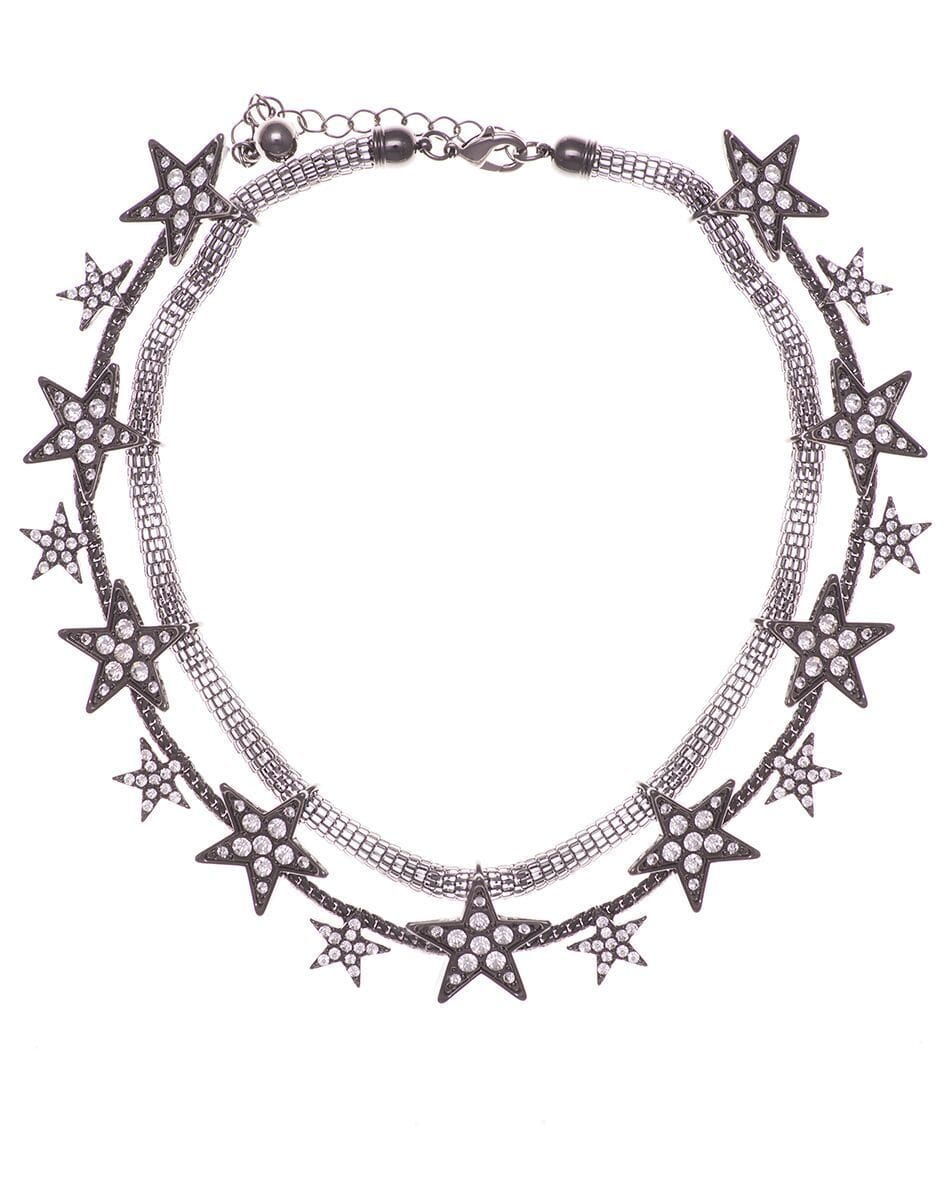 Black Mesh Star Necklace
