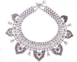 Art Deco Diamante & Pastel Crystal Bib Necklace