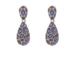 Blue & Gold Earrings