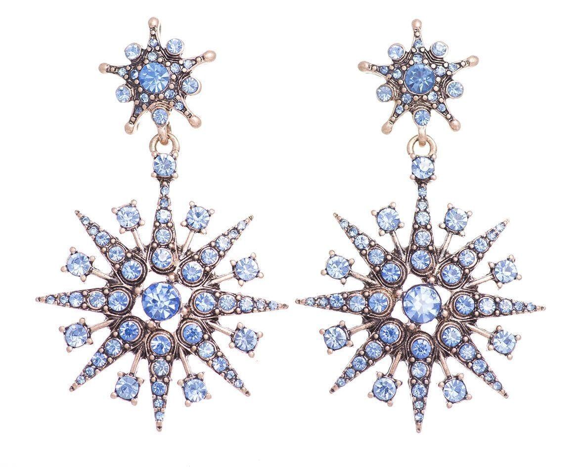 Blue Super Star Earrings