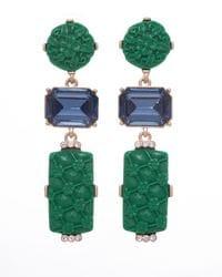 Blue & Green Mandarin Earrings