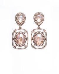 Golden Crystal Drop Earrings