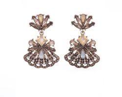 Golden Fan Earrings