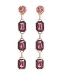 Disco Red Crystal Drop Earrings