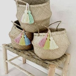 Belly Baskets with Tassels