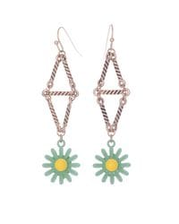 Daisy Chain Triangle Earrings