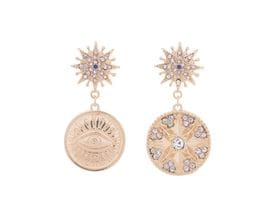 Sun Goddess Disc Earrings