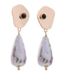 Faux SIlver Pearl Drop Earrings