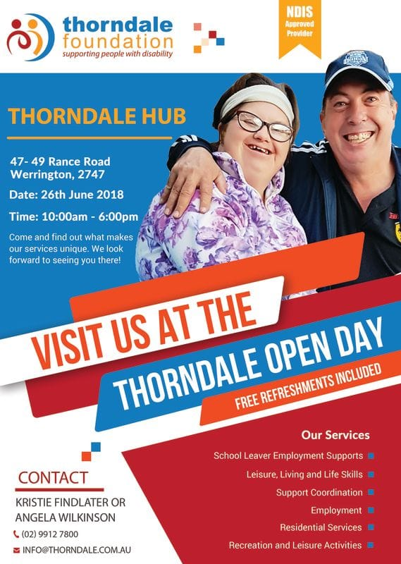 Visit us at the Thorndale Open Day