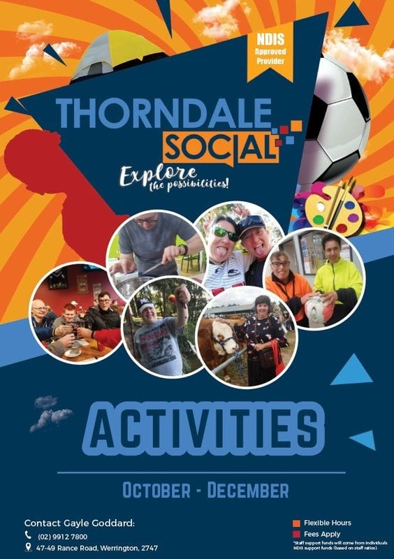 Thorndale Social Activities Oct-Dec!