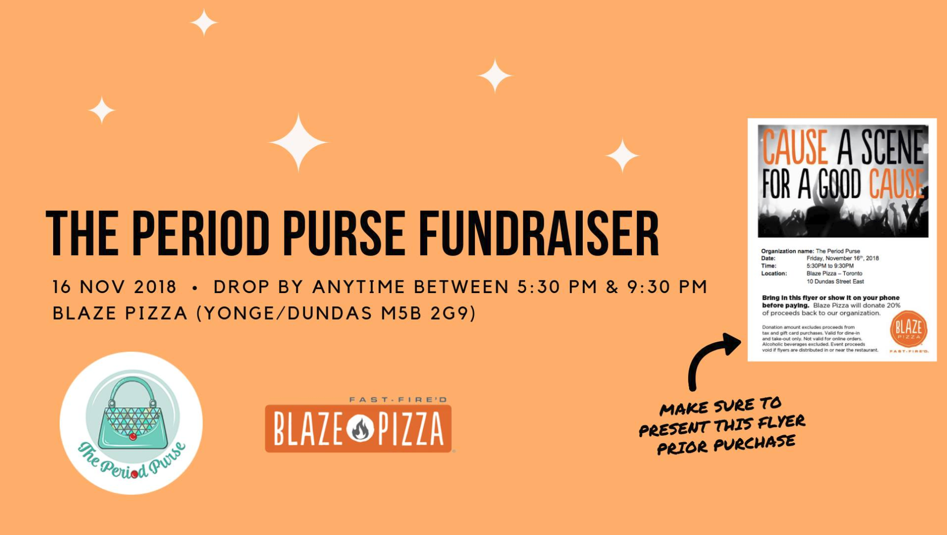Fundraising with The Period Purse and Blaze Pizza