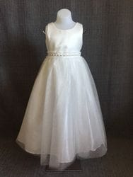 Satin bodice dress- IVORY