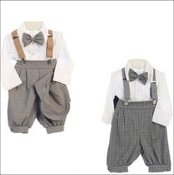 5 Piece Plaid Suspender Set