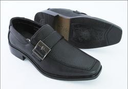 MAVEZZANO-Black Dress Shoe With Buckle